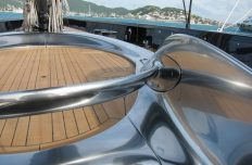 Deck design for a top racing Wally Yacht