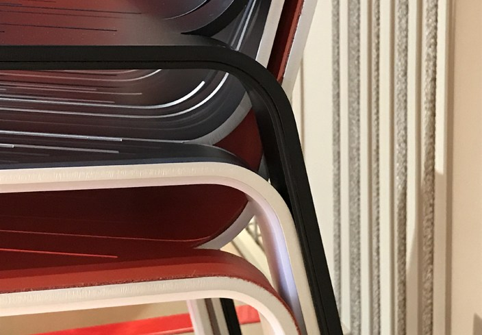 Prototype of 8mm Chair by Moroso revealed in Milan